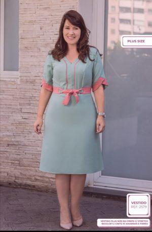 676e91840e0e Vestido em Linho Moda Evangelica Online! Moda Feminina - Nay Glamour